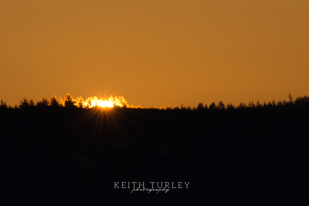 Sunrise from Fort Casey State Park by Keith Turley